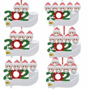 Счастливая семейная подвесная маска лицо снеговика носить детей рождественские украшения выжившего подарок LJV3