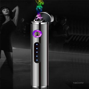 USB electronic cigarette lighters with electric quantity display for long Mini charging double arc lighter ZC205