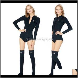 Swim Wear Slinx 2Mm Women Neoprene Suit Wetsuit Long Sleeve Sunblock Bikini Diving High Leg Swimsuit Quick Drying Xnrqa Cfbln