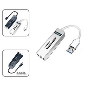 Hubs 5 In 1 Portable USB Type-C TF SD-Card Plug Play Cable Hub Wide Application Expansion Dock Widely Compatible