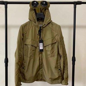 Metal nylon two glasses GOGGLE men jacket casual CP hoodies outdoor windbreak black army green orange