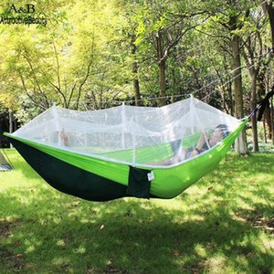 Outdoor Games & Activities Portable Double Person Hammock Travel Camping Mosquito 200kg Two Net Hanging Swing Bed