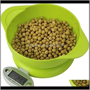 Measuring Tools 5Kg1G Lcd Display Electronic Kitchen Food Diet Postal Balance Scale Weight Tool With Tray Green 201211 U6Sqz 6X4R9