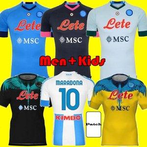 Erwachsene Kinder Kits 20 21 Napoli Fußball Jersey 2021 Home Naples Hamsik Insignente Mertens H.lozano Maradona Viertel Football Jerseys Shirt