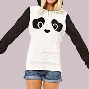 Bear Ear Plush Furry Hoodie Poleron Mujer 2019 Cute Panda Clothing Kawaii Harajuku Oversized Stitching Long Sleeve Hoodies Women