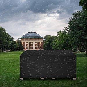 270 * 180 * 89 cm 210D Oxford Panno Polvere Polvere Proteggi Tavolo per mobili da esterno e sedia da pioggia Sun Nero Materiali ad alta densità