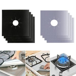 Stovetop Liner Gas Hob Protector Reusable Foil Gas Hob Range Stovetop Burner Protector Liner Cover Cleaning Mat Kitchen Tools GWD7654