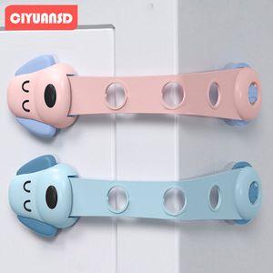 baby protective door adjustable children's drawer double lock
