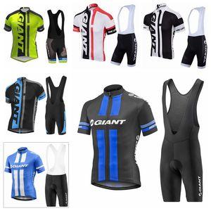 2019 Pro Giant Team Summer Cycling Jersey Set Bicycle Ropa transpirable Hombres Camisa de manga corta Bike BIB Set H70422