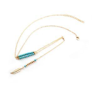 New Bohemian Etnic Tassel Collana Collana in rilievo Pendente a forma di pendente a catena lunga collane per le donne Amore estivo regalo gioielli vintage 150 J2
