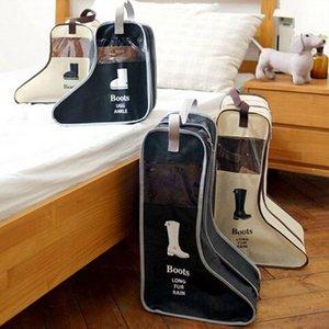 Bags PP Long Riding Rain Ankle Boots Leather Shoes Storage Bag Organizer Case Travel eco for Black Beige Drop H163