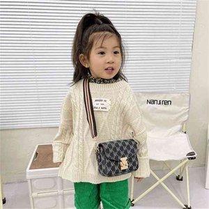 Christmas Fashion Printed Children's Mini Square Bag Cute Stripe Girl Princess Messenger Bag Portable One-shoulder Wallet Crossbody Pack Purse G109Y4VL