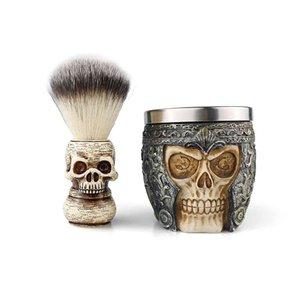 Barber Shop Moussing Hommes Nettoyage facial Tool Savon Bol de Savon Outils de rasage Set de brosse à barbe