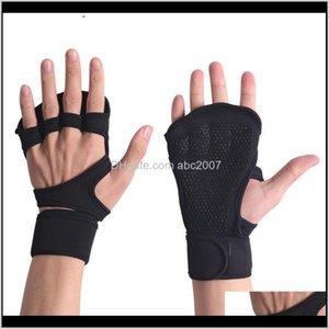 Велосипедные перчатки Fight Gym Fitness Eyslifting Спорт Спорт Палец Рука Открытый Слой Nonslip Защита Защита Запястья Z2LCG 5ZCGQ