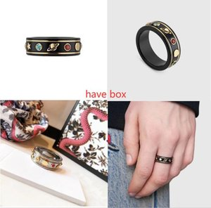 GUCGI Luxury titanium steel hollow letter ring for men women fashion trend big gold silver 2-color couple ring