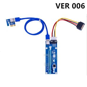 VER 006 Cards PCI-E Riser 1X To 16X Graphics Extension for GPU Minings Powered Risers Adapter Card ETH Bitcoin Mining