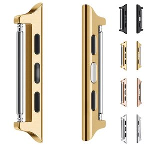 Adaptateur pour Apple Watch 4 5 Connecteur d'acier inoxydable F ou IWatch Connecteur 42mm 38mm 44mm 44mm 40mm 40mm sans soudure aluminium bracelet