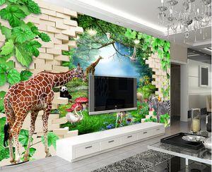 2021 personalizado 3d papel de parede animal selva wall papers casa decoração sala sala de estar quarto paisagem fundo mural