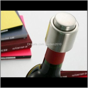 Barware Kitchen, Dining Home & Garden Drop Delivery 2021 Stainless Steel Press Down Wine Bottle Stopper Vacuum Sealer Bar Tools Pgdlw