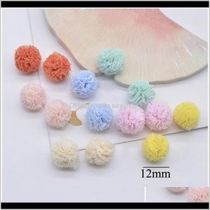 Notions Tools Apparel Drop Delivery 2021 100Pcslot 12Mm Elastic Mesh Chiffon Flower Ball For Sewing On Scarf Shoes Hats Fur Diy Headwear Hair