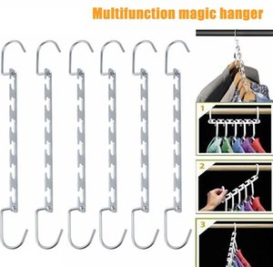 Wardrobe Hooks Clothing Hanger For Storage Organizer Clothes With Foldable Organization Home 6pcs WLL736