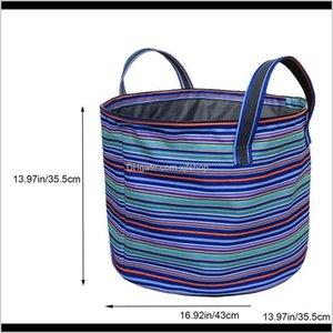 Appliance Parts Accessories Household Appliances Drop Delivery 2021 2Pcs Strips Canvas Fabric Foldable Laundry Hamper Toy Storage Basket Dura