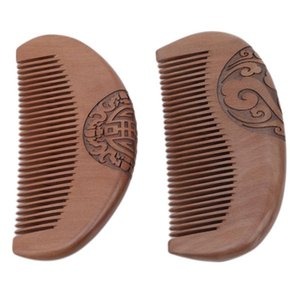 Hair Brushes Natural Peach Fragrant Anti-static Wood Care Comb Women Man Healthy