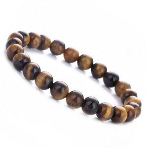 Beaded, Strands Ethnic Style Men Women Yellow Tiger Eye Stone Beaded Bracelet Yoga Beads DIY Handmade Jewelry Holiday Gifts Accessories
