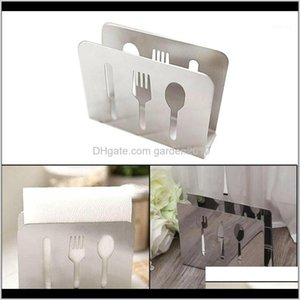 Boxes Napkins Table Accessories Kitchen, Dining Bar & Garden Drop Delivery 2021 Stainless Steel Box Hollow Napkin Holder Dispenser Tissue Rac