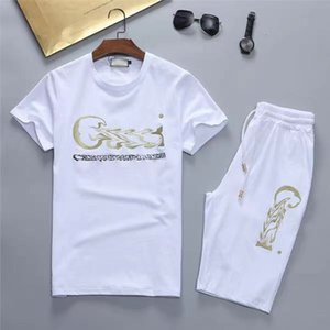 2021 Men's T Shirt and Short Set Male Summer Casual Short Sleeve Tops and Pants Suits New Sports Running Set Streetwear Tops Tshirts