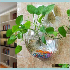 화병 홈 장식 정원 명확한 투명 매달려 유리 꽃병 공기 식물 벽 테라 리 움 거품 물고기 탱크 장식 드롭 배달 2021