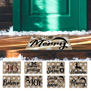Carpets Christmas Letter Home Door Mat Absorbent Living Room Kitchen Floor Cotton Outdoor Indoor Rugs Hand-Woven Washable Mats