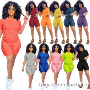 Frauen Zwei Stück Hosen Designer Trainingsanzüge Kleidung Bat Sleeve Top Set Plus Size Yoga Outfits Jogging Anzüge 826