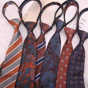 Neck Ties Business Lazy Tie For Men's Neckties Suits Wedding Gravatas Slim Cravat Neckwear Accessories