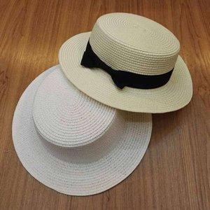 Летний DIY бумажная оплетка плоская вершина белая соломенная леди широкий краевой пляж праздник солнца шляпа