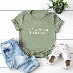 Comfortable large short sleeve women's T-shirt letter hot cotton
