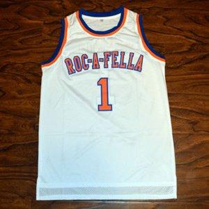 ROC-A-FELLA JAY Z S.PARTER # 1 كرة السلة جيرسي مخيط تخصيص أي اسم ورقم