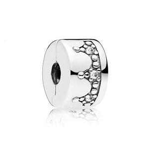 Dazzling Crown Charm Clip For Pandora CZ Diamond 925 Sterling Silver DIY Accessories Birthday Gift With Box