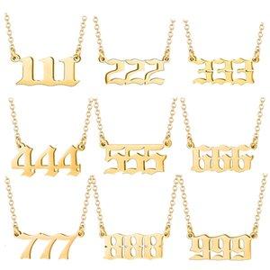 Pendant 2021 Angel Pendant No.: 000-999 Stainls Steel Digital Necklace