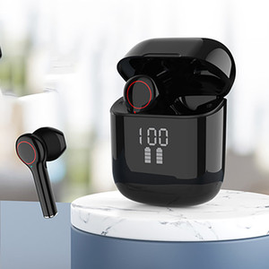 L31pro Wireless Earphones Bluetooth 5.0 Digital Display Mini TWS In-Ear Earbuds Portable Durable For Smart Phone 1 Pair