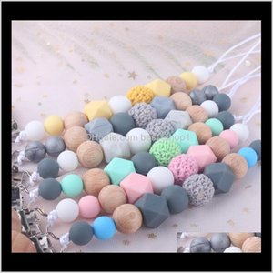 Favor Event Festive Party Supplies Home Garden Drop Delivery 2021 Sile Teether Clips Teething Toy Attache Clip Pacifier Holder Infant Feeding