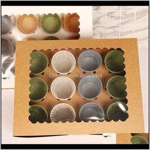 Gift Wrap Lbsisi Life 10Pcs Cupbox Boxes And Packaging Wedding Birthday Party Baby Shower Kind Favor Cake Hold Decoration Patisserie W Joscj
