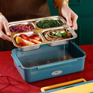 12V 24V 220V Electric Lunch Box Portable Container Warmer Heater Rice Heating Dinnerware Sets For Home School Cookers