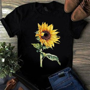 designer t shirt short sleeves tops clothes for women mens sunflower printed 2020 new designers crew neck cotton blend T-shirt