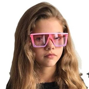 Oversize Square Kids Sunglass Girls Baby Boys Ftival Punk Sunglass UV400 Glass Children Shad Eyeglass