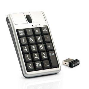الأصلي 2 في Ione Scorpius N4 الفأرة البصرية لوحة المفاتيح USB، السلكية 19 لوحة المفاتيح العددية مع الماوس وعجلة التمرير لإدخال البيانات السريعة