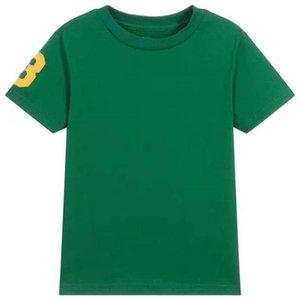 Высококачественный ребенок большой лошадь 100% хлопок короткий т верхний детская одежда рукав рубашка мужская футболки мужские футболки
