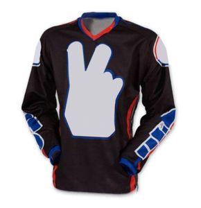 Летний гоночный костюм с длинным рукавом быстро сушильный дышащий кросс-кантри мотоцикла езда Футболка мода личностный узор свободно можно настроить