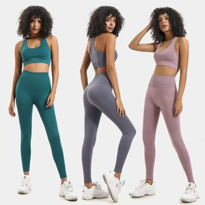 seamless Women's Tracksuits selling knitting buttock Yoga sports fitness suit vest set for women
