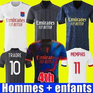 20 21 camisa de lyon Olympique Lyonnais camisa de futebol de lyon 2020 2021 4º Lyon camisa de futebol TRAORE MEMPHIS AOUAR MENDES